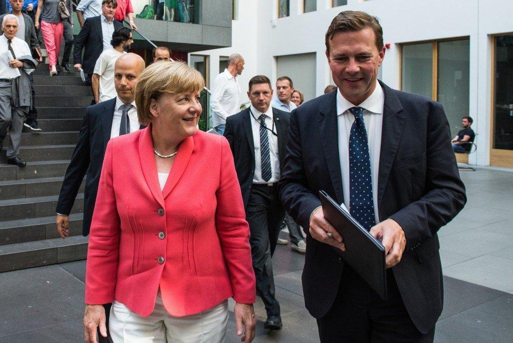 Angela Merkel Foto: Pieter Heijboer