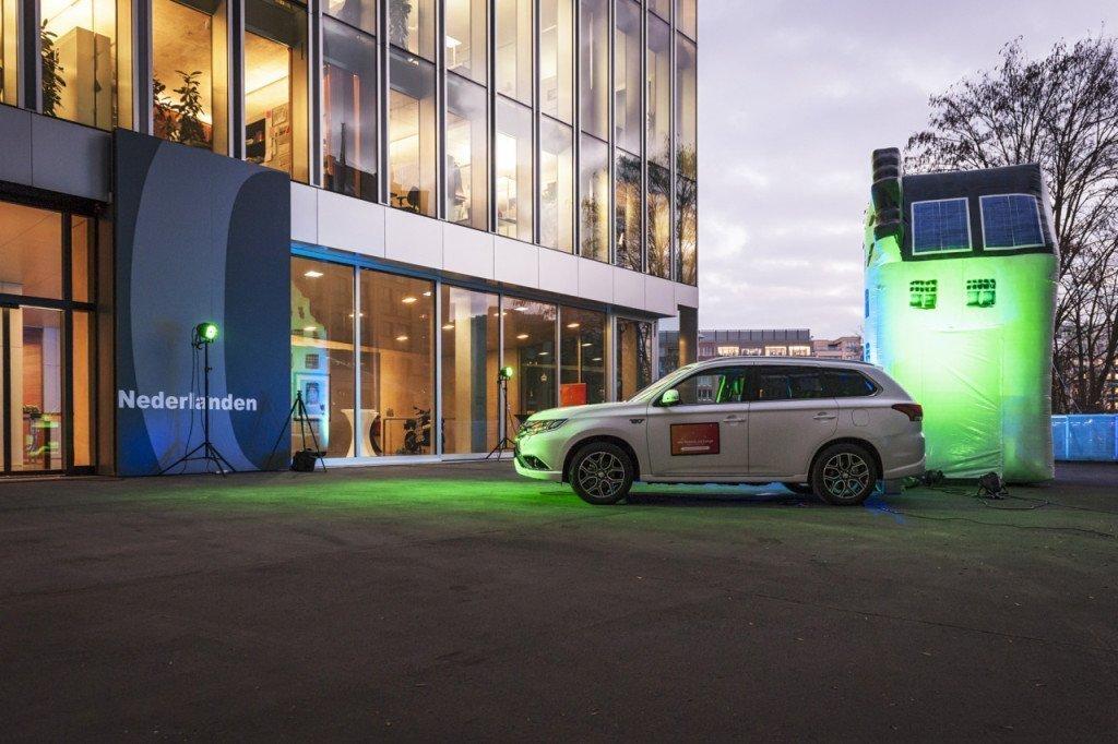 Reclame voor Nederlandse initiatieven op de ambassade. Foto: Axel Schmies Marketing / Kommunikation e8energy GmbH