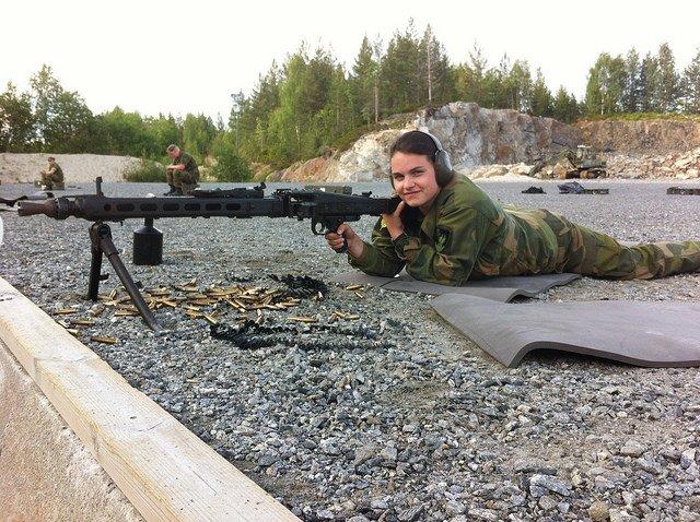 MG3 machinegeweer. (Foto: Mari Lerdal).