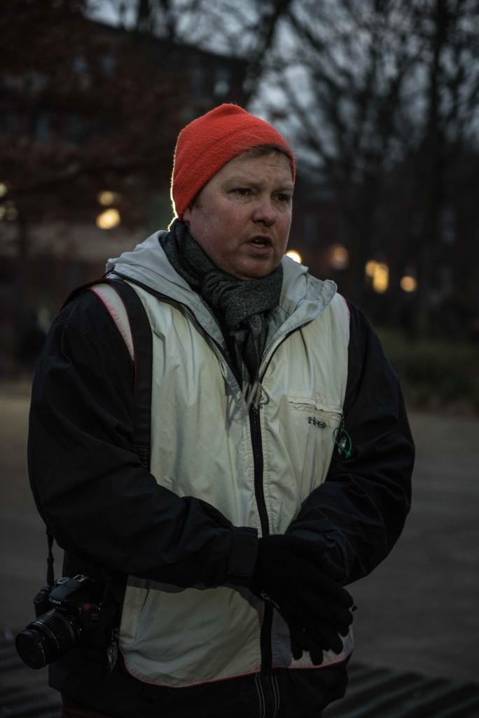 Vrijwilliger Michael Ruscheinsky van Moabit Hilft. Foto: Pieter Heijboer