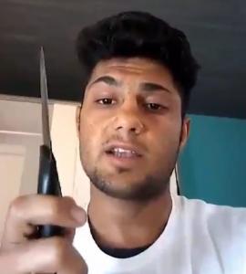Screenshot uit de dreigvideo. Beeld via Bild