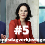 Armin Laschet, Annalena Baerbock en Olaf Scholz